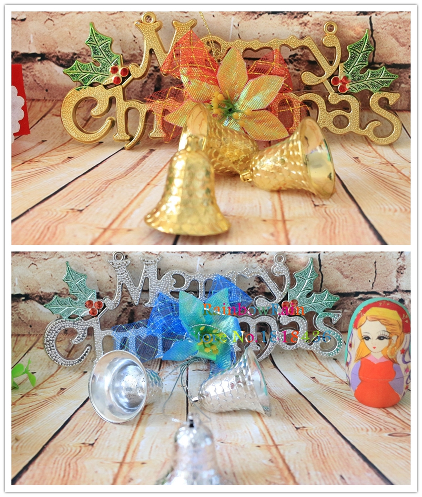 Warm Style Outdoor Christmas Tree Hanging Bells Gold