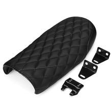 53 cm negro Racer motocicleta asiento vintage estilo impermeable asiento cómodo estética motocicleta asiento FIT para universal