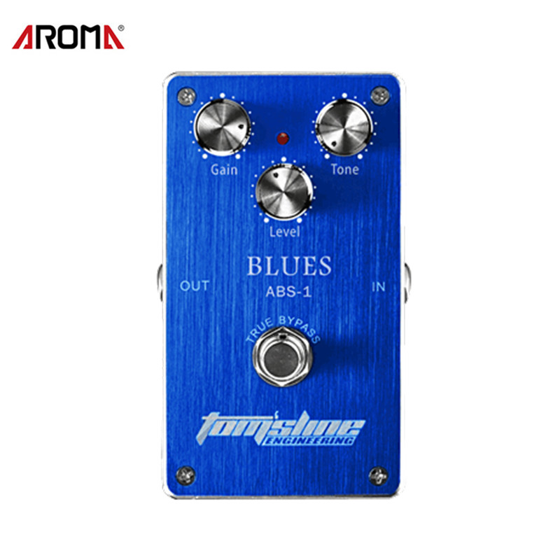 Aroma ABS-1 Blues Distortion Electric Guitar Effect Pedal Aluminum Alloy Housing True Bypass with 3 Adjustable Knobs aroma tom sline abr 3 mini booster electric guitar effect pedal with aluminum alloy housing true bypass durable guitar parts