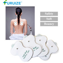 1pair Electrode pads Adhesive Gel Electric Body Massage Tens Digital Therapy Machine White Pad Acupuncture Apparatus