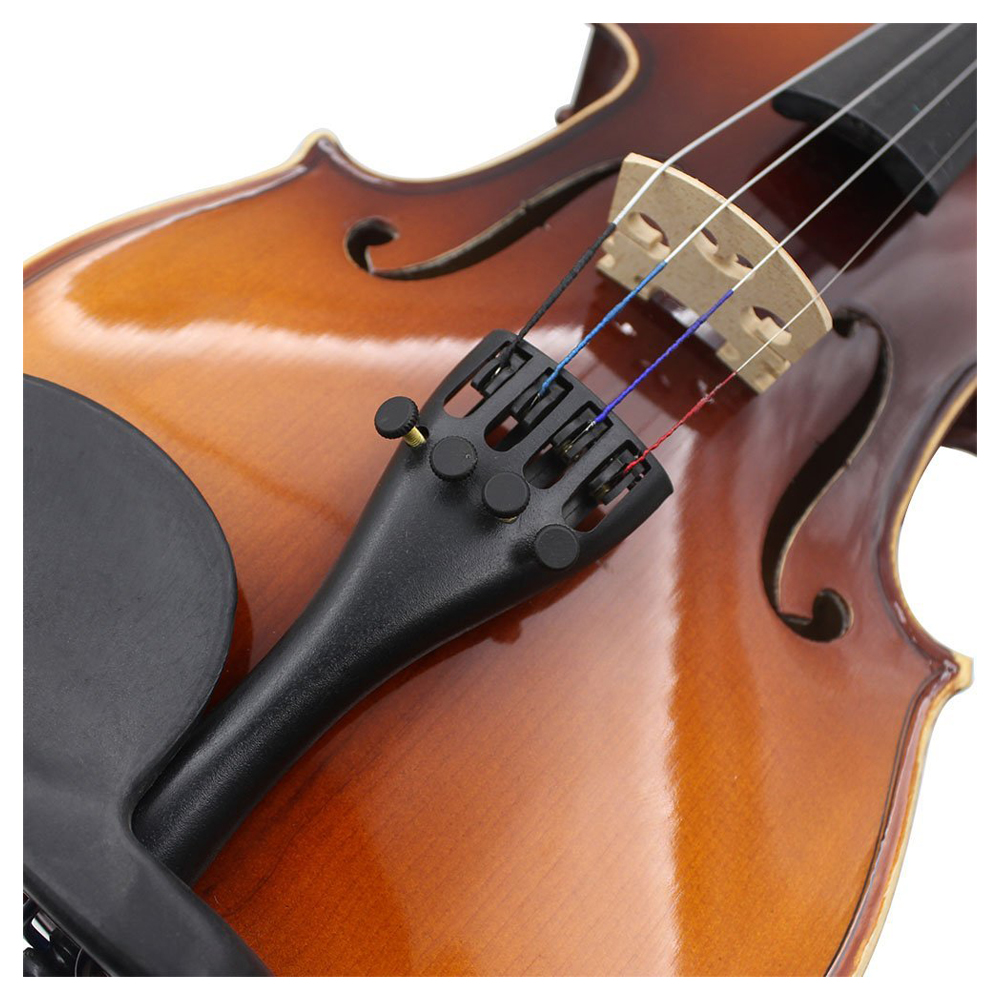 US $1 63 8% OFF|3/4 4/4 Violin Fiddle Tailpiece Hill Style with 1pcs  Tailgut Tailcord 4 Fine Tuners Aluminum Alloy Durable Strong-in Violin  Parts &