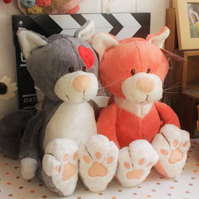 NICI Plush toy stuffed doll heart cat kitten kitty lover lovers couples love birthday gift 1pc free shipping стоимость
