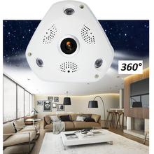 HD 1080P WiFi Panoramic Camera 360 Degree PTZ Fisheye Network IP mini Camera Video Storage Remote Onvif Audio-in baby monitor