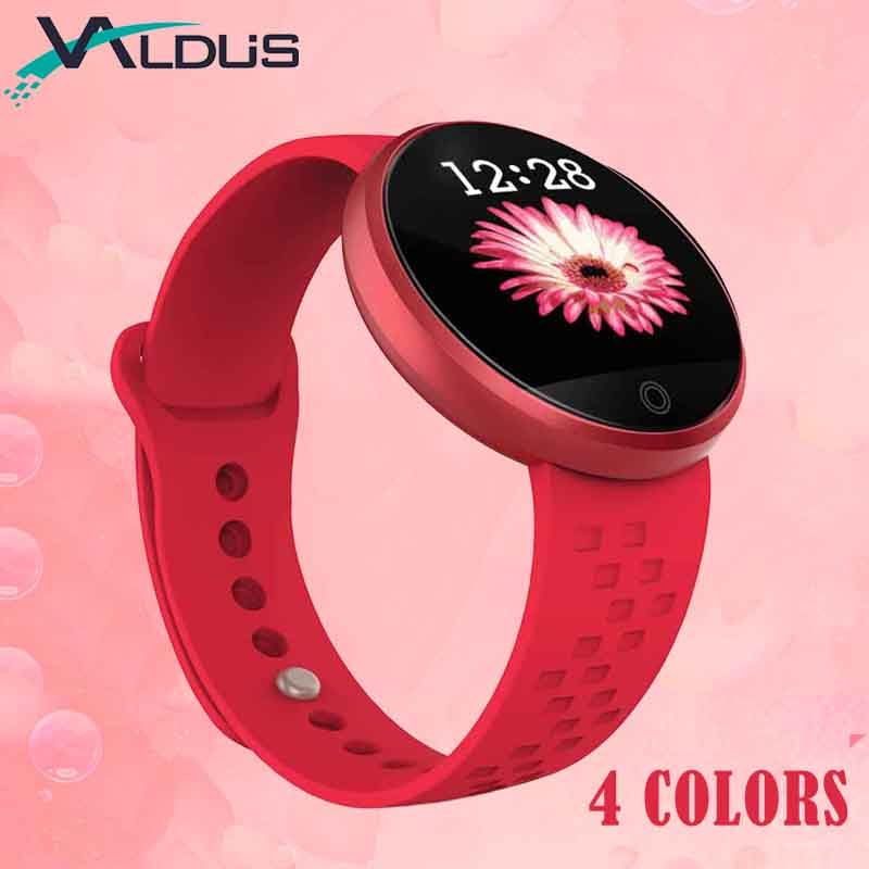 Valdus Women Female Smart Band Wristbands Heart Rate Monitor Fitness Bracelet Remote Camera Gift for Girlfriend
