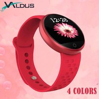 Valdus Women/Female Smart Band Wristbands Heart Rate Monitor Fitness Bracelet Remote Camera Gift for Girlfriend Wife Smart Watch