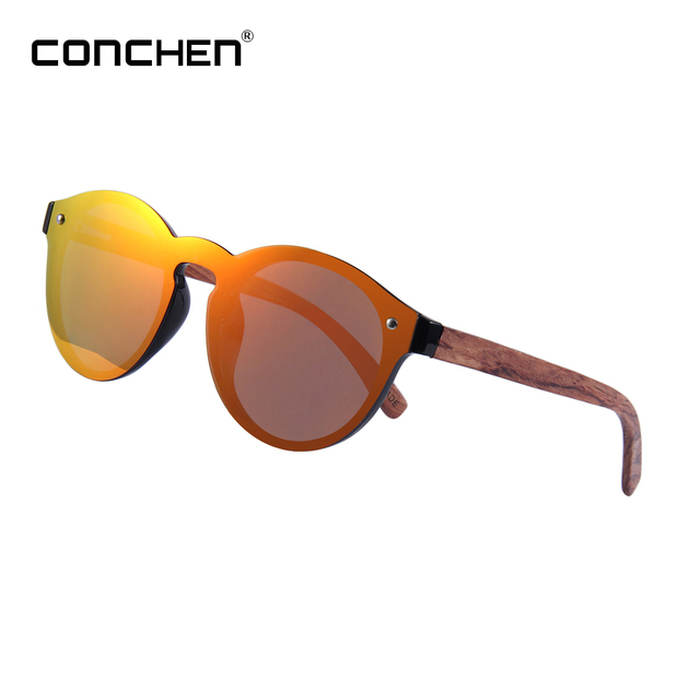 784f026f68 CONCHEN One piece Lens Wooden Sunglasses Vintage Wood Sunglasses Women  Eyewear