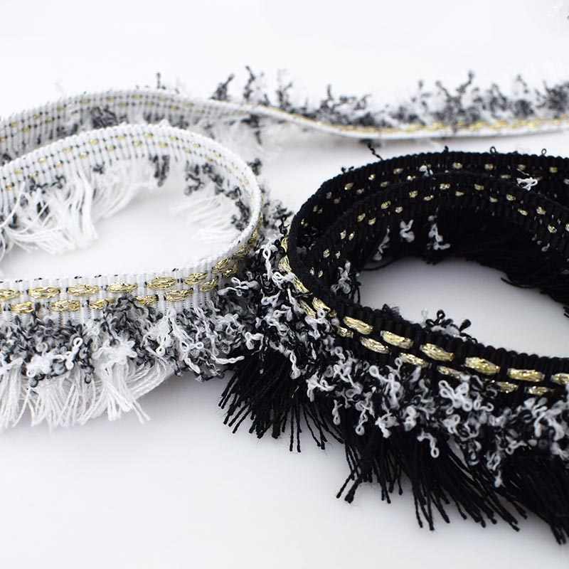 10Yards Thread Tassel Fringe Lace Trims Ribbons Clothing Shoes Cap Trimmings Fabric DIY Decoration Sewing AccessoriesKY2197 in Lace from Home Garden