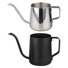 250ML 350ML Coffee Server Hand Coffee Pot Fine Mouth Stainless Steel Household Drip Fine Mouth Tea Coffee Kettle Brewer Barista