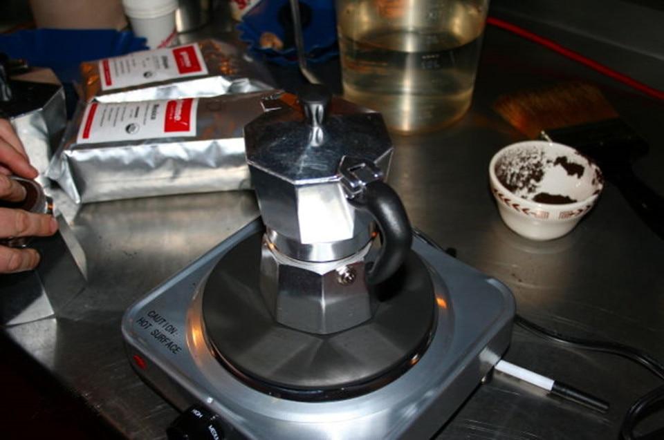 Hliníkový varič Espresso Maker Classic Moka Kávovar Espresso - Sady nástrojů - Fotografie 5