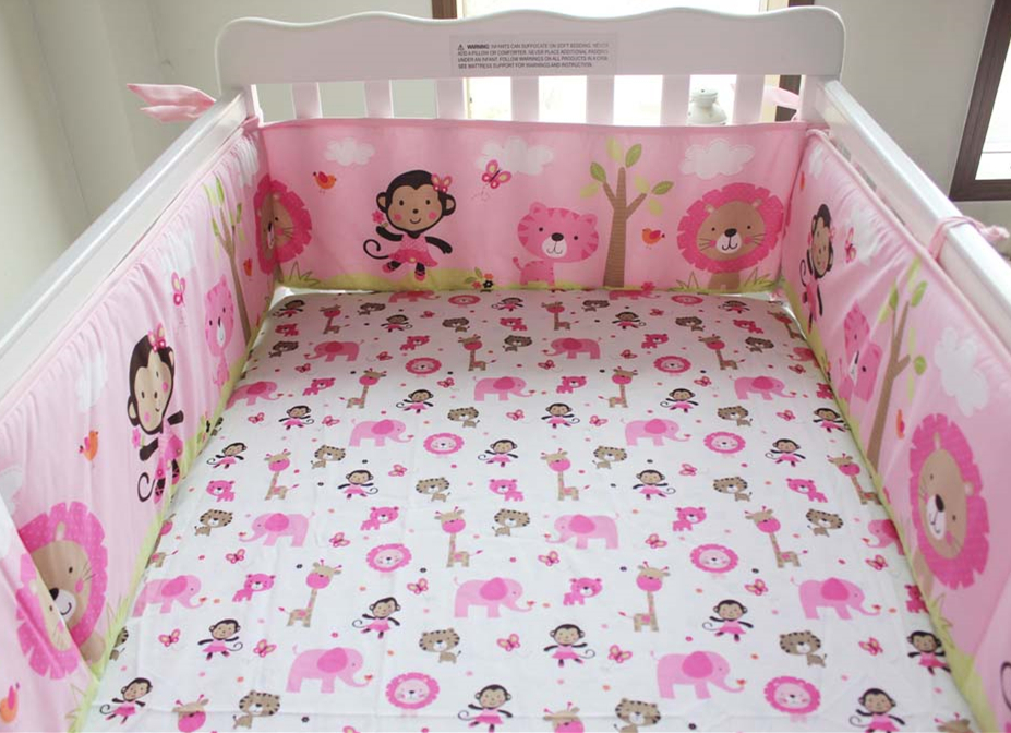 5pcs Embroidery Pink Baby Bedding Set, Baby Bed Bumper Set,Cot Bed Bedding Baby Bumper Set,include (4bumper+bed cover)5pcs Embroidery Pink Baby Bedding Set, Baby Bed Bumper Set,Cot Bed Bedding Baby Bumper Set,include (4bumper+bed cover)