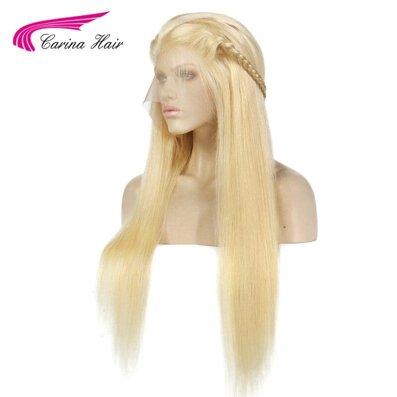 Карина волосы бразильский Реми Человеческие волосы 150% плотности чистого 613 блондинка Синтетические волосы на кружеве Искусственные парики...