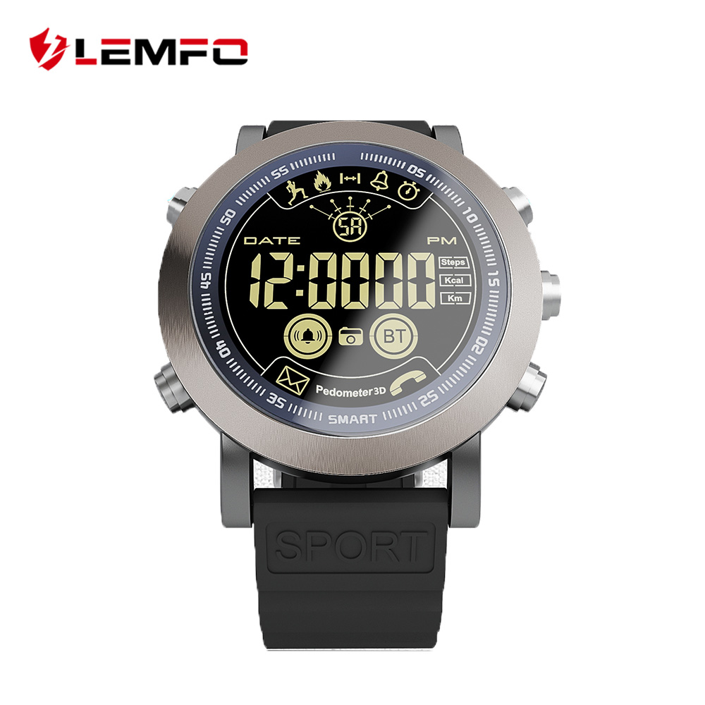 LEMFO LF23 profesional deporte Smart Watch hombres 1,21 pulgadas pantalla grande IP68 soporte impermeable natación 610 mAh 33 meses de espera