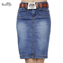 2017 European and American Style Women Jeans skinny Skirts Blue Girls Denim Short Skirts Female High Waist Ladies QJY2253