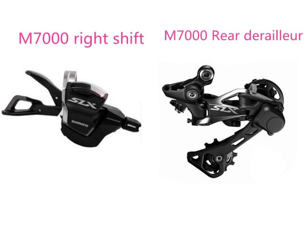 SHIMANO SLX M7000 11 Speed 2PCS MTB bicycle bike M7000 right Trigger Shifter + M7000 Rear derailleur GS shimano slx m7000 gs 11ск shadow