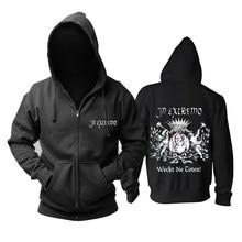 Bloodhoof em extremo folk metal pesado algodão masculino em preto hoodie asiático tamanho
