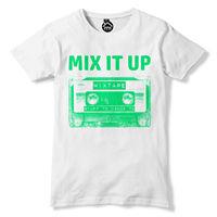 Mix It Up T Shirt Old School 80s Cassette Tape Music Tshirt Top Disco Dance 355