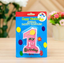 """My 1st Birthday"" Candle"