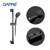 GAPPO 1Set Hotsale Black Wall Mounted Hand Shower Set Round Stainless Steel Slide Bar With 3Mode