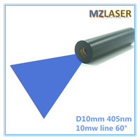High End 10mW 405nm Green Line 60 Degree Laser Module Industrial Areas 10mm