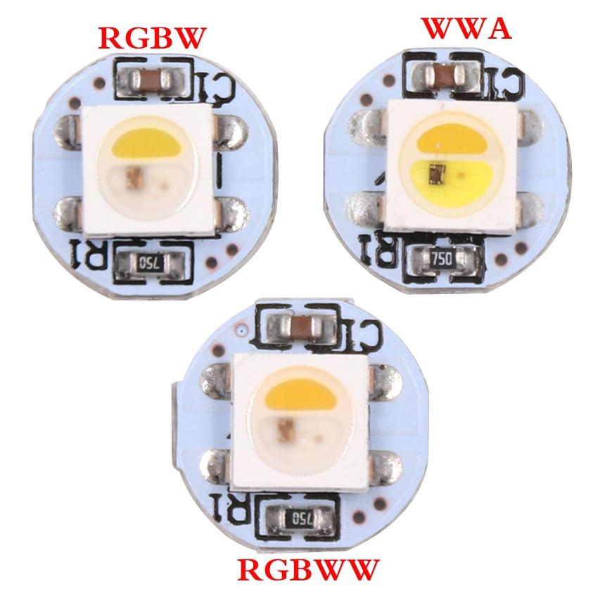 50 x pre gelötet SK6812 RGBW led mini Board Mit draht Neutral weiß ...