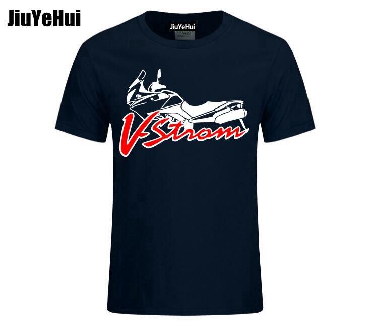 Fashion Men's   T     Shirt   Suzuki V-strom DL 650 Motorsport Team Logo   T  -  shirt   Men Cotton Short Sleeve   T     shirts   High Quality   T