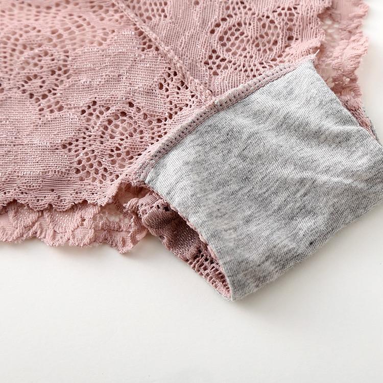 3pcs/lot, Sexy Lace Panties, Women's Fashion Cozy Lingerie, Tempting Pretty Briefs, Cotton Low Waist, Cute Women Underwear 28