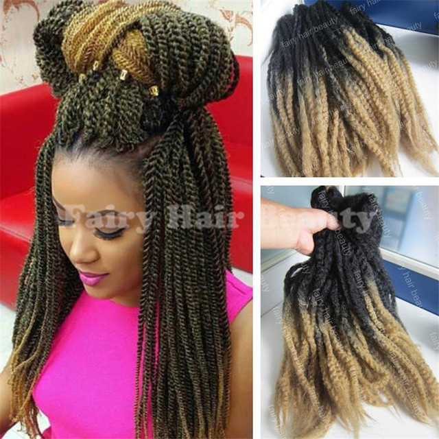 Stock Cheap Price 20 1b 27 Afro Kinky Twists Synthetic Two Tone
