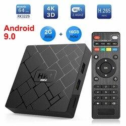 HK1 MINI Android 9.0 Smart TV BOX Rockchip RK3229 czterordzeniowy 2GB Ram 16G Rom H.265 4K TV Sep Top odtwarzacz multimedialny Box PK X96 MINI TX3
