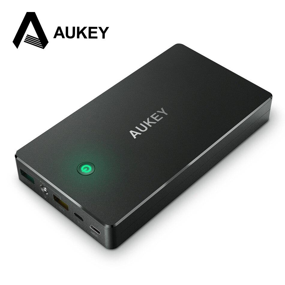 Цена за Aukey PowerBank 20000 мАч портативный внешний аккумулятор литий-полимерный Power Bank Quick Charge 2.0 зарядное устройство для телефона и таблетки