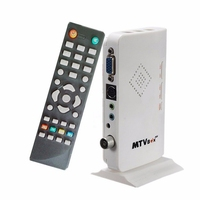Mayitr 1pc Portable Digital TV Box VGA LCD External PC TV BOX Digital Program Receiver Tuner
