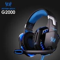 High Quality Kotion EACH G2000 Deep Bass Gaming Headset Earphone Headband Stereo Headphones With Mic LED