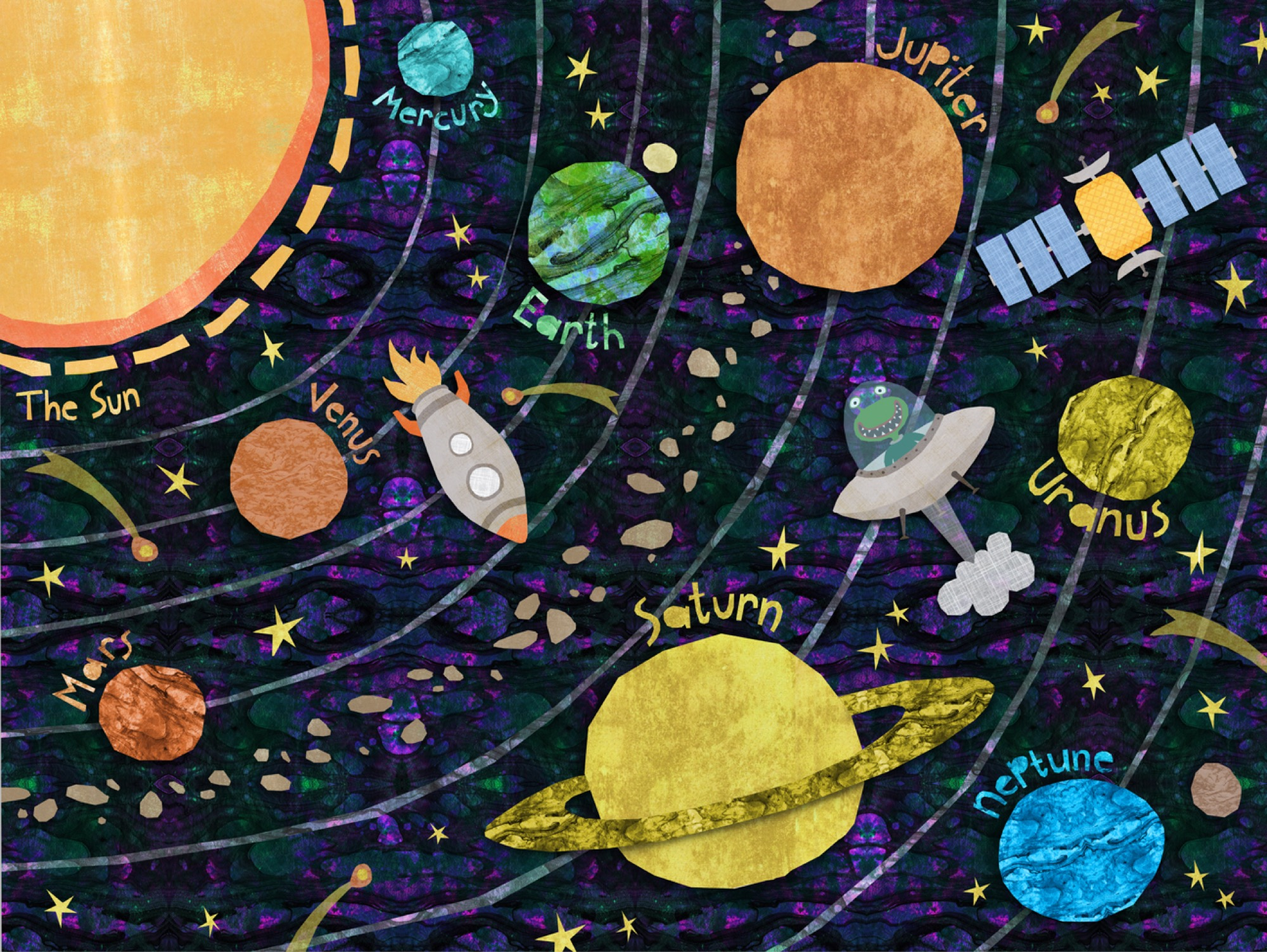 universe solar system paintings art - HD1296×974