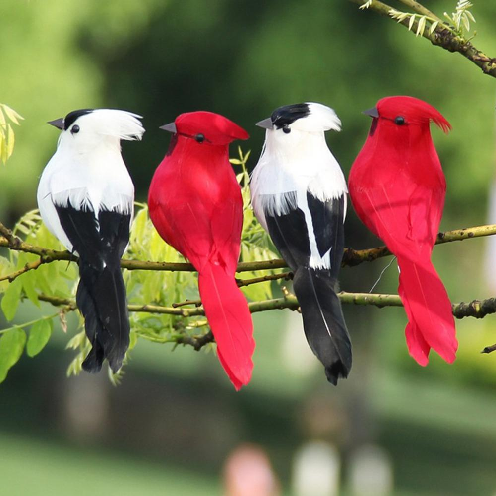 1:12 Handmade Feather Parrot Miniature Bird Simulation Model Decor Purple