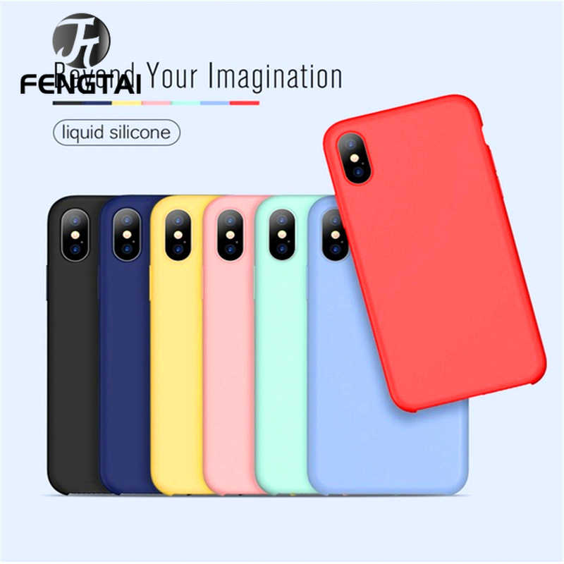 Luxury Color Silicone Case For iPhone xr/7/8/XS/X/6/6S case For Apple For iPhone xr xs max 7plus Screen Protector Silicone Case
