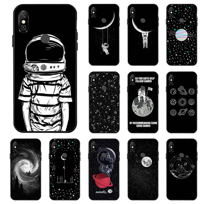 3D Painted Starry Sky Moon Case For Xiaomi Redmi Note 6 7 5 Pro Cases PocoPhone F1 Matte Cover For Xiaomi Mi 8 9 SE A2 Lite Capa