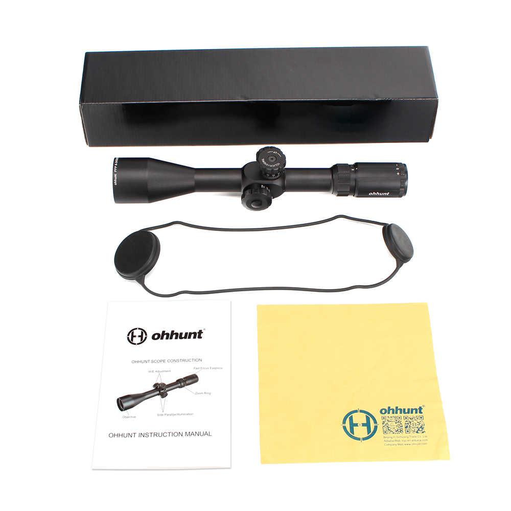 Ohhunt 6-24X50 SF Primo Piano Focale FFP Portata Side Parallax Vetro Acidato Reticolo di Reset Blocco di Caccia Tactical Optical Cannocchiali Da Fucile