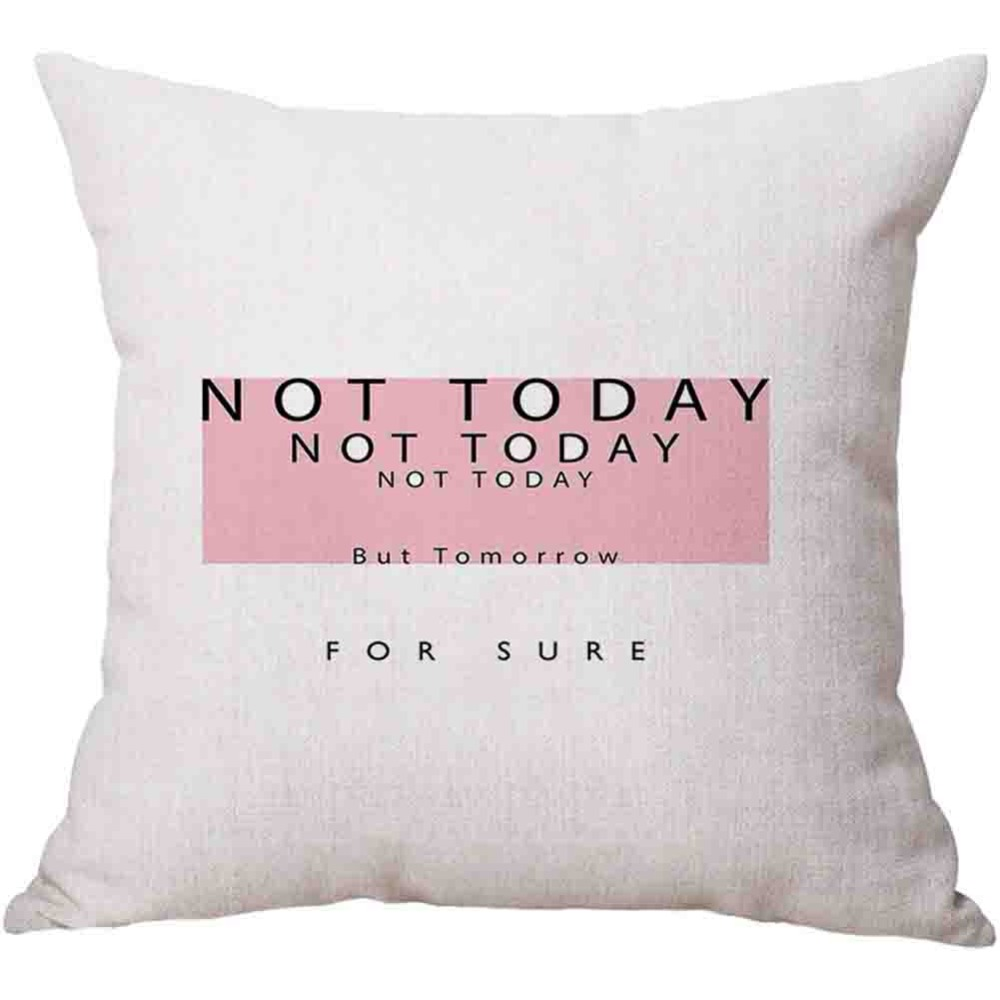 Modern Fashion Pink Crown Diamond Sweet Quote Seat Cushion Cover Nordic Pillowcase Girl Room Sofa Decorative Linen Cushion Cover