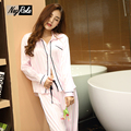 High quality silk autumn long-sleeve cozy women pajamas sets satins fashion sexy casual ladies sleep lounge women sexy sleepwear