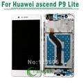 Для Huawei Ascend P9 Lite ЖК-Дисплей С Сенсорным Экраном Дигитайзер Стекла Ассамблеи С Рамкой Свободная Перевозка Груза