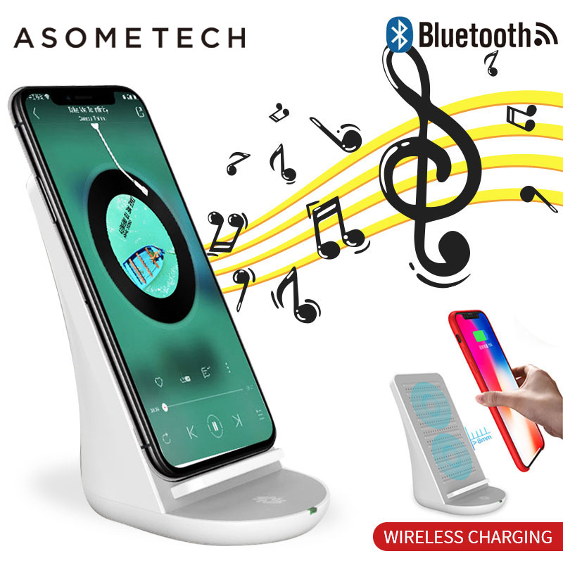 $28.56 Portable Bluetooth Speaker Wireless Charger Vertical Desktop Phone Holder Speakers With Cool Fan For iPhone Android Smartphone 2