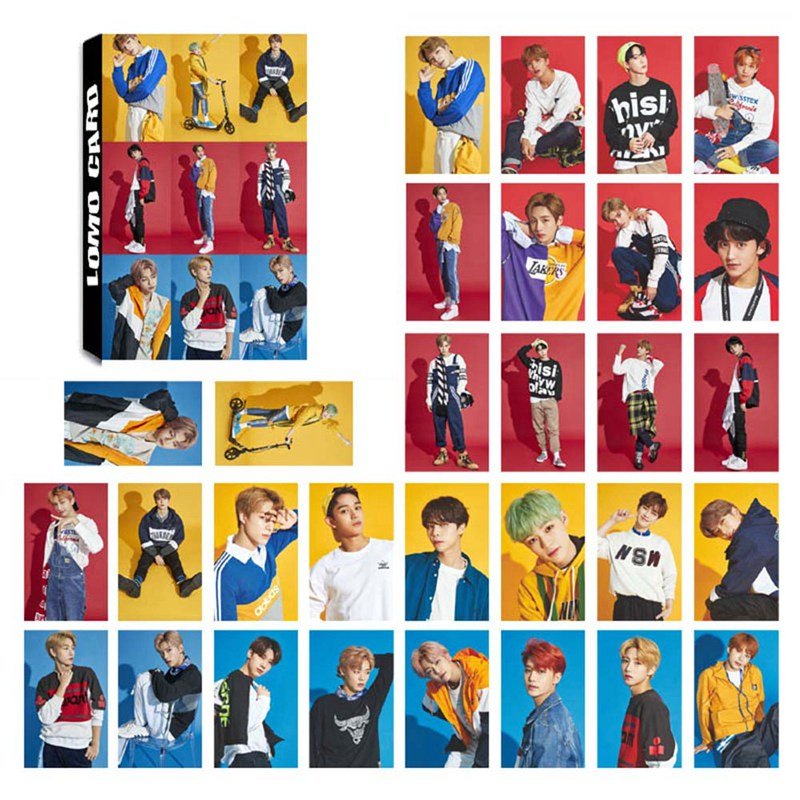 30Pcs/Set NCT Photo Card Poster Lomo Cards Self Made Paper HD Photocard Fans Gift Collection