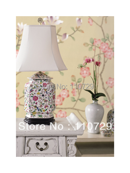Home decoration wall material Hand painted silk wallpaper painting flowers with birds sticker many pictures optonal