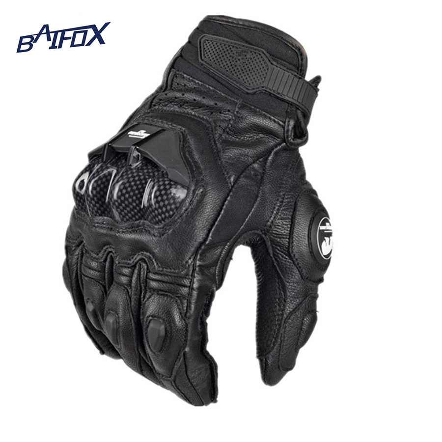 Buy leather motorcycle gloves - Hot Selling Cool Motorcycle Gloves Moto Racing Gloves Knight Leather Ride Bike Driving Bicycle Cycling Motorbike