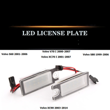 For Volvo old S60 S80 XC90 XC70 V70 S60L modified LED license light assembly