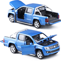 Caipo 1:30 volkswagen amarok picape veículos de brinquedo veículo modelo liga de puxar para trás as crianças toys licença genuine presente coleção