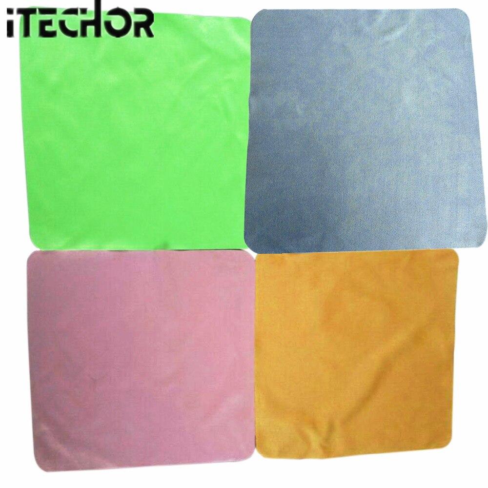 ITECHOR 4 ชิ้นขนาดใหญ่ทำความสะอาดผ้าไมโครไฟเบอร์ครัวผู้ช่วยที่ดีสำหรับหน้าจอตารางเลนส์แว่นตาสะอาด 20 * 20 cm สีสุ่ม