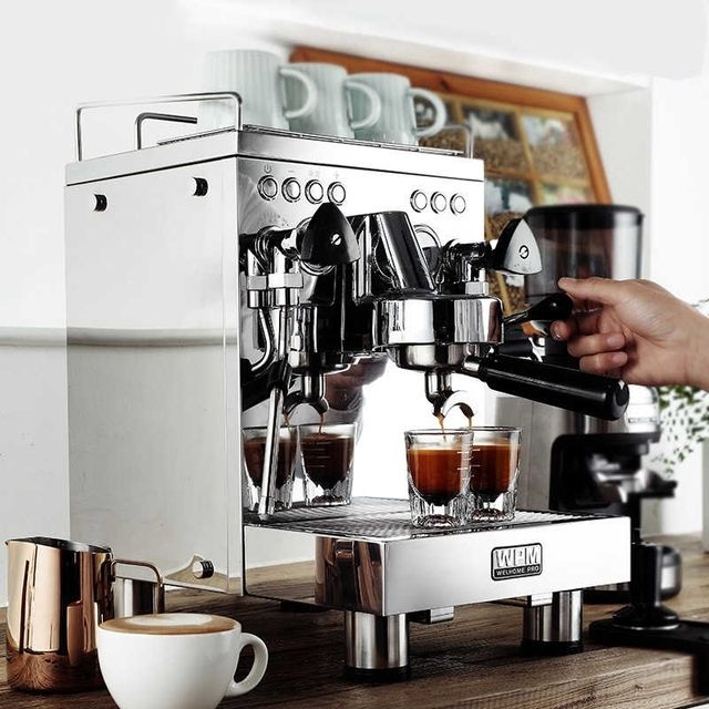WELHOME KD-310 Espresso  Machine  Coffee Maker Stainless Steel Semi-automatic steam coffee machine cafetera