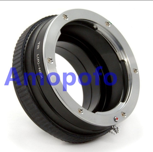 Amopofo LR-NEX adaptateur de lentille d'inclinaison pour lentille Leica R pour Sony E A5100 A6000 A3000 5 T 3 5N VG10