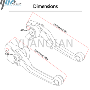 Image 5 - 2018 New CNC aluminum Pivot Clutch Brake Lever Handle Grips For Kawasaki KX80 2000 2018 2014 2015 2016 2017 Dirt Bike