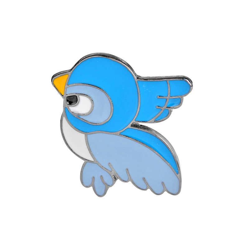 Kualitas Tinggi Fashion Kreatif Animasi Kartun Burung Bros Kemeja Tas Grosir Aksesoris Teman Hadiah Bros Grosir